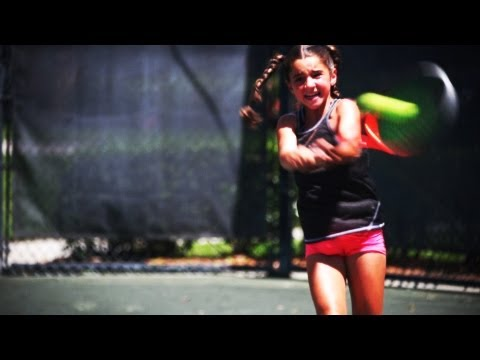 Unstoppable 9-Yr-Old Tennis Prodigy!