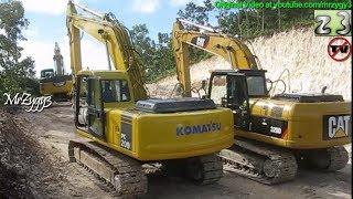 Heavy Equipments at Road Construction Best Scene