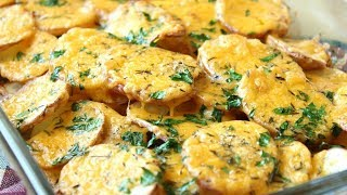Картофель запеченный с сыром и цукини. Домашние рецепты. Вегетарианский рецепт