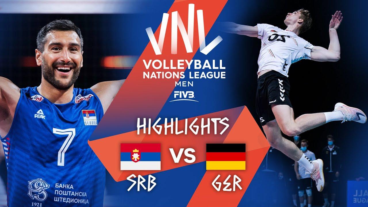 Download SRB vs. GER - Highlights Week 3 | Men's VNL 2021