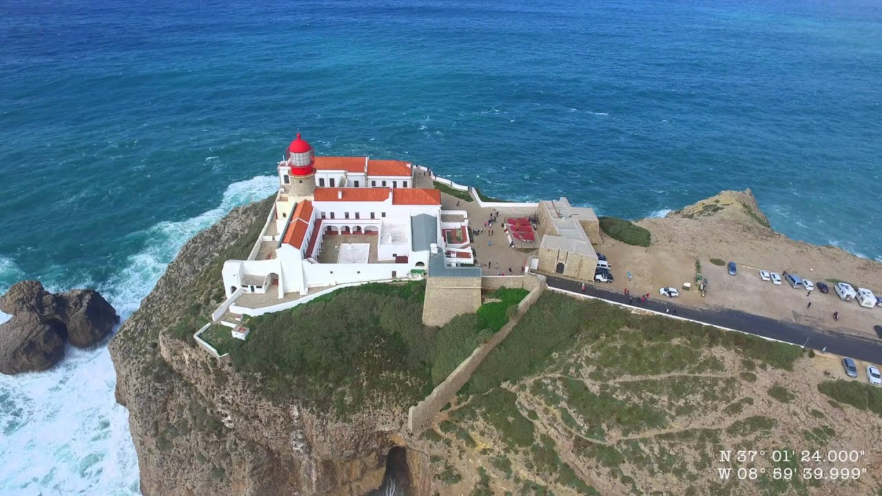 cabo de sao vicente west algarve feb 2016 aerial 4k youtube. Black Bedroom Furniture Sets. Home Design Ideas