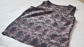 Tutorial | DIY | How to sew an easy silk top | Как сшить простой шелковый топ
