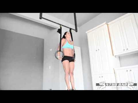 Stud Bar Elite Wooden Gymnastic Rings | Fitness Direct