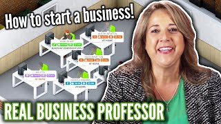 Business Professor Starts A Company In Startup Simulator • Professionals Play