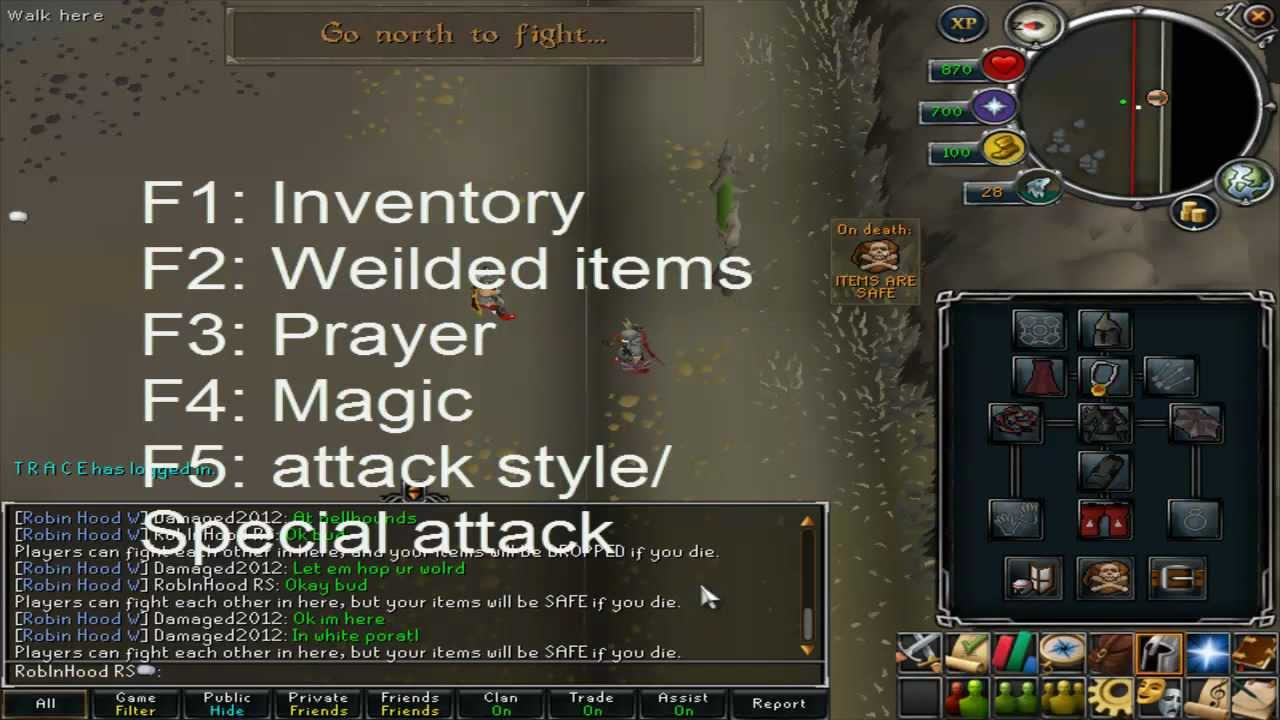 Weapon switching and hot keys guide - Runescape