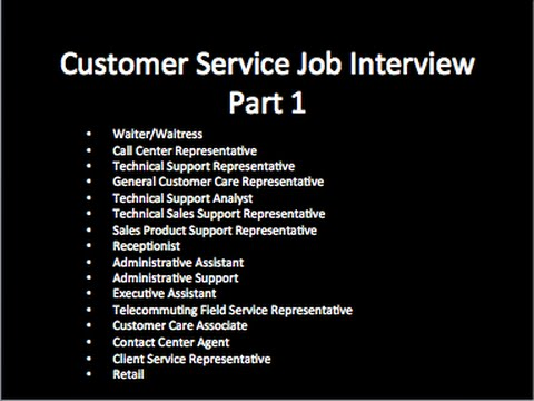 skills for customer service job