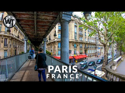Paris - Pont Bir Hakeim - Eiffel Tower - Walking Tour〚𝟒𝐊〛🇫🇷 France