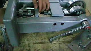TDP 0 tablet press- how to install lower die