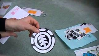 Sticker Unboxing Granade, Dickies, Dgk, Skate Warehouse, Element
