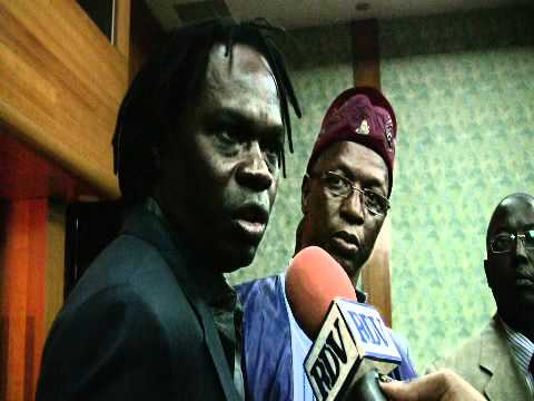Baaba being interviewed after the round-table discussion on culture vs HIV/AIDS