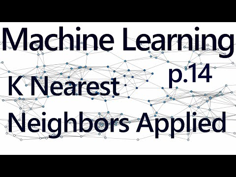 K Nearest Neighbors Application - Practical Machine Learning Tutorial with Python p.14