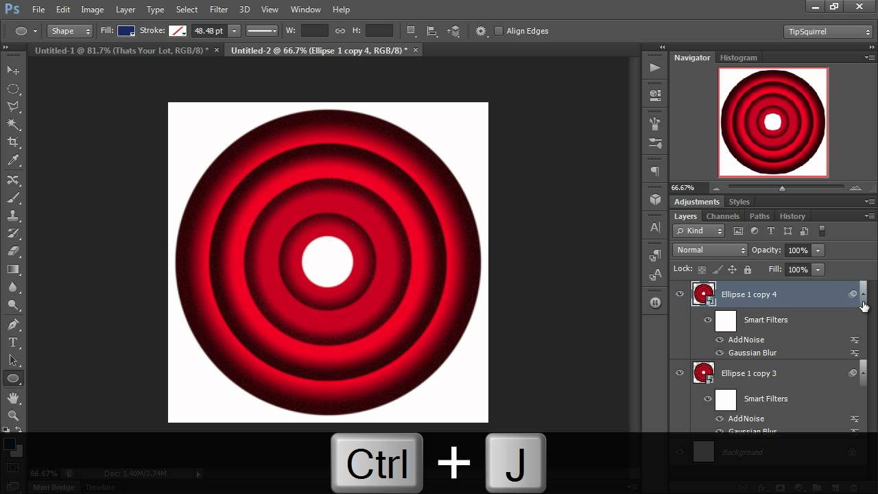 Looney Tunes Concentric Circles With Photoshop Eric Renno For Tipsquirrel Com Psnuts Photoshop Youtube Photoshop Tutorial