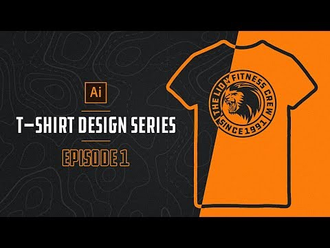 How To Make T-SHIRT DESIGNS In Illustrator (Episode 1)