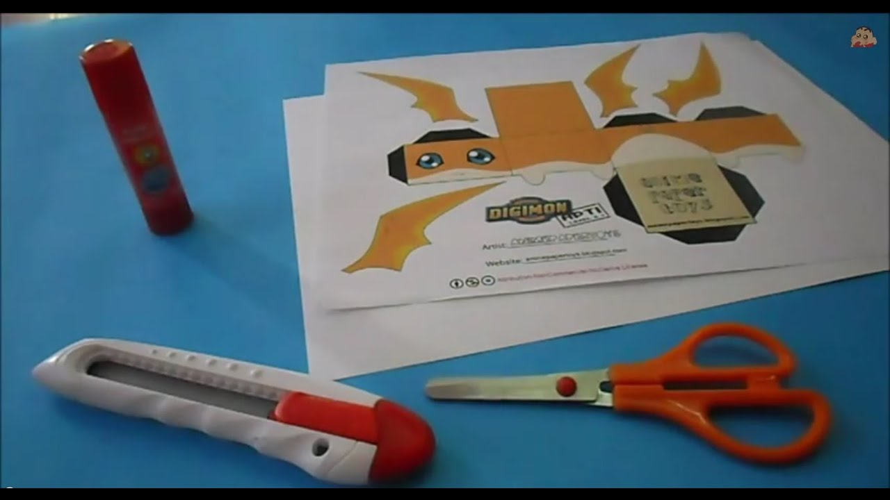 Papercraft Patamon Papercraft /  Tutorial  (CC)