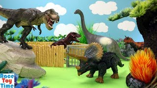 Dinosaurs Escape Tyrannosaurus Carnotaurus Jurassic World - Fun Dino Toys For Kids