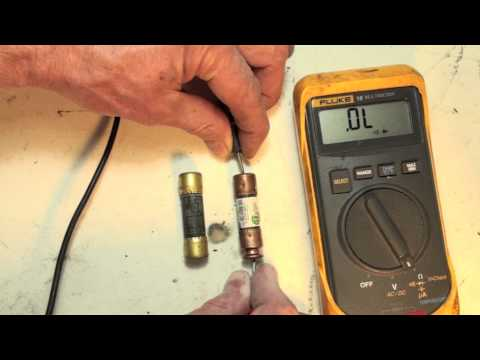 How to check the cartridge fuse used in HVAC with an ohmmeter.  Fuses part 5