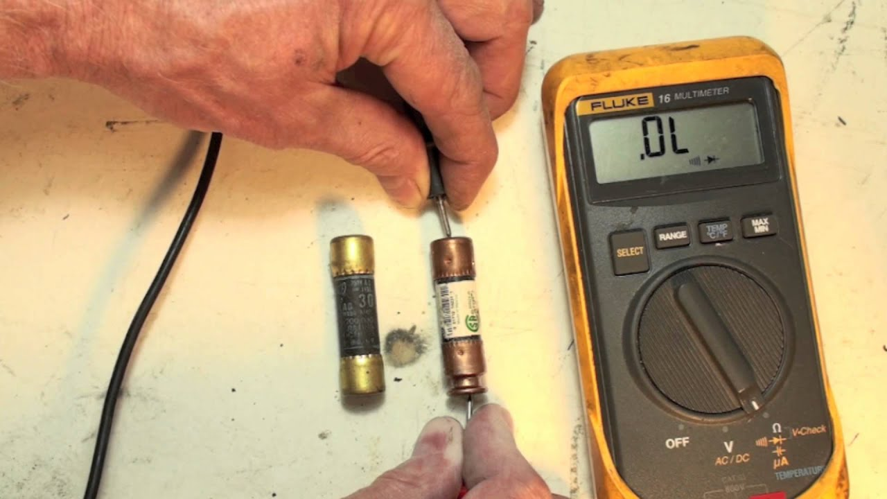 How To Check The Cartridge Fuse Used In Hvac With An Ohmmeter  Fuses Part 5