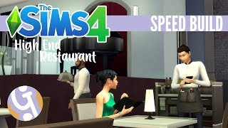 🏠 Modern High End Restaurant | Sims 4 Speed Build