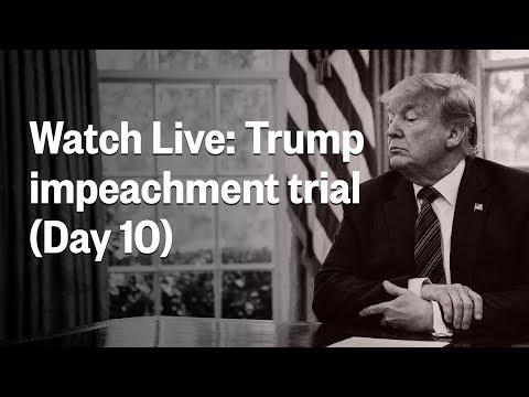 Senate Impeachment Trial Of President Trump - Day 10 | NBC News (Live Stream)