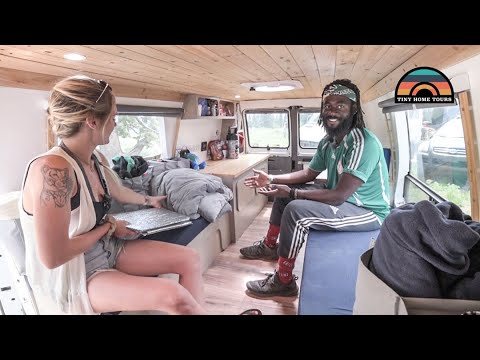 Couple Graduated College & Moved Into A DIY 95 Dodge Camper Van