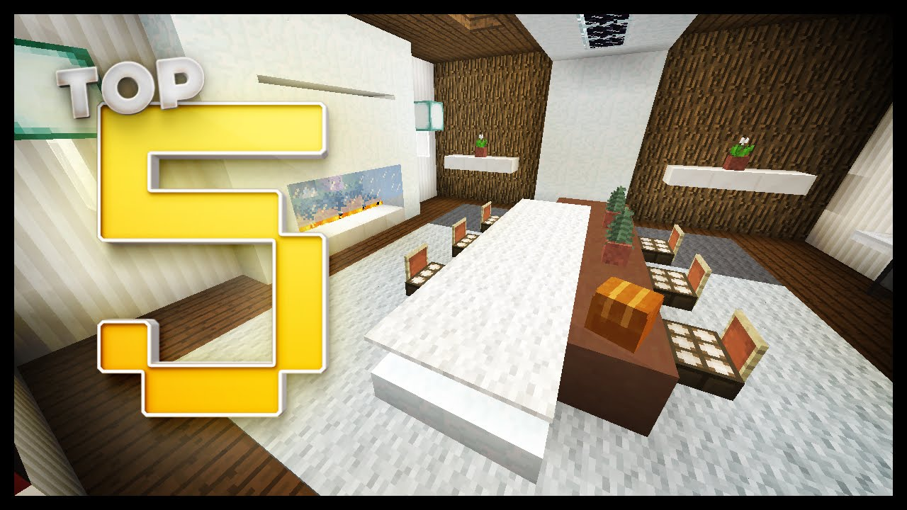 Minecraft Dining Room Designs Ideas Youtube