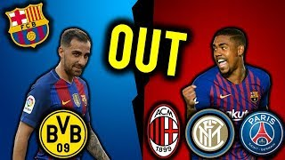 5 Players That Could Leave Barcelona in January 2019 ! Messi to Man CIty, Malcom on Loan