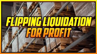 How to Make Easy Money Flipping Liquidation Pallets Online