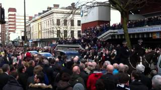 Sir Tom Finney Funeral Procession passing Preston Guildhall
