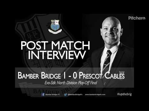 Neil Reynolds post match interview playoff final