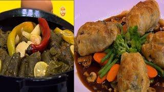 دجاج بعجينة الميلفيه - شوربة مشروم - محشي ورق عنب | الشيف حلقة كاملة
