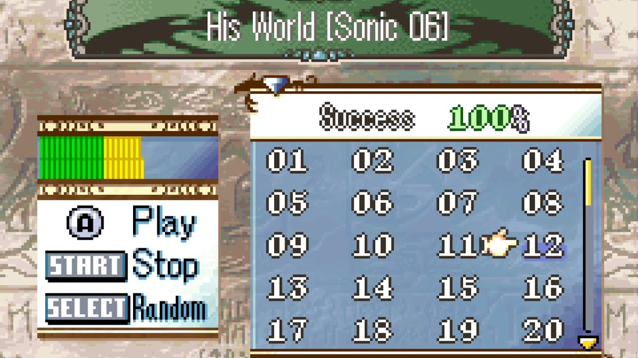 His World In Fire Emblem 8 On Gba Sonic The Hedgehog 2006 Youtube