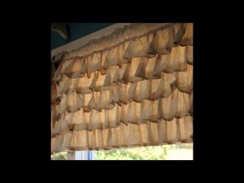 Варианты декора для дачи из мешковины