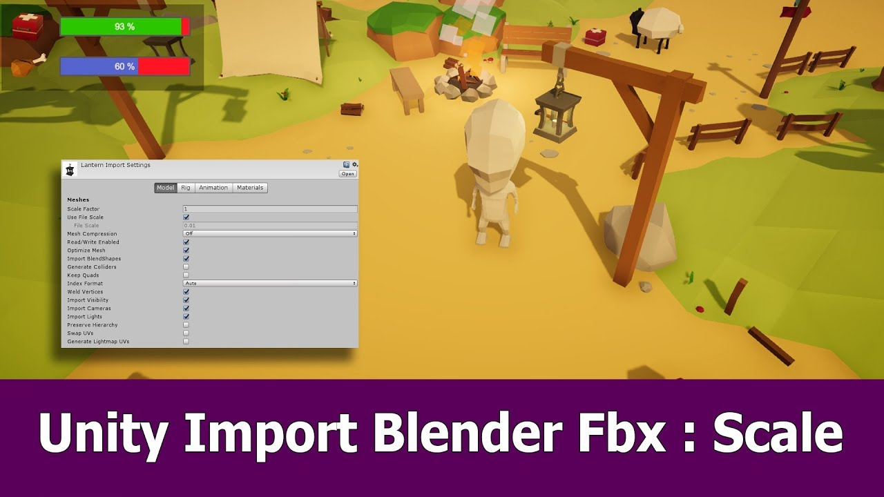 Export Blender Fbx to Unity : Scale