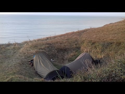 WILD CAMPING ON THE WHITE CLIFFS OF DOVER | KENT WALK
