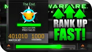 "How To ""RANK UP FAST"" Secret Tips! MWR Level UP FAST, Get More XP & Prestige Fast! (MWR Multiplayer)"