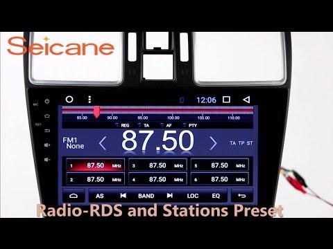 Aftermarket navigation 2014 2015 2016 Subaru WRX Forester Bluetooth music radio with DAB+