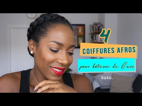 4 Coiffures Afros pour une hôtesse de l'air (tuto)