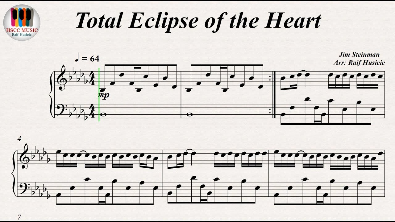 Total Eclipse of the Heart   Bonnie Tyler, Piano