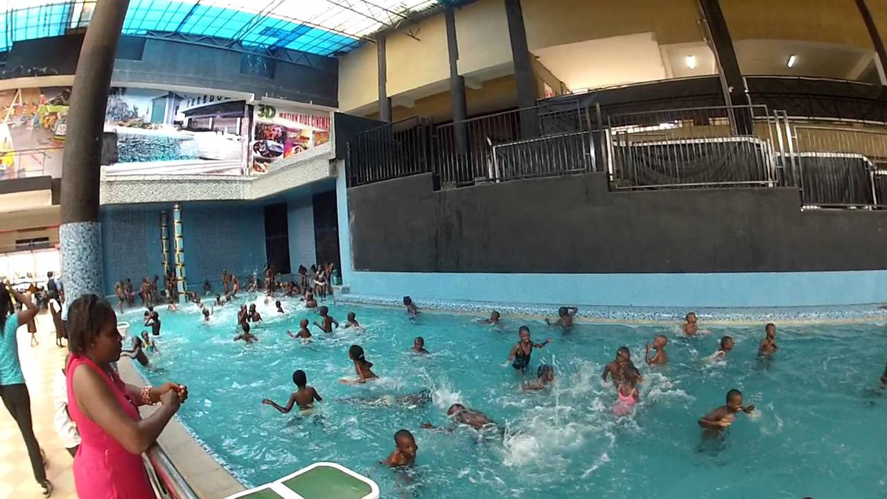 Swimming Pool In Freedom City Kampala Uganda Youtube