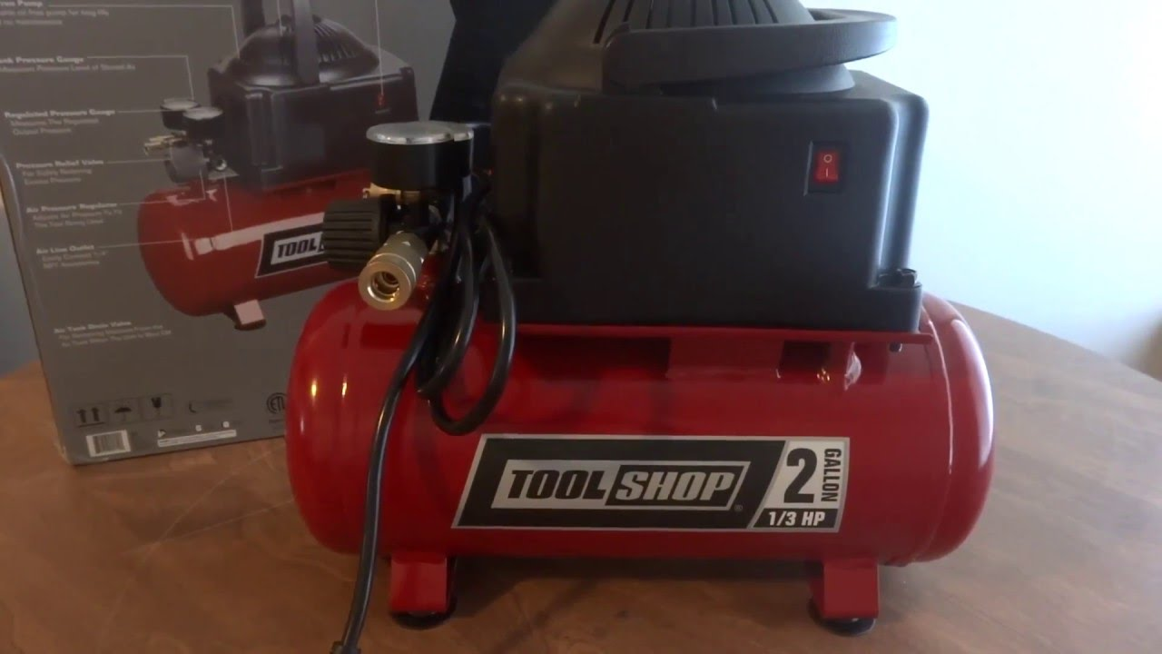 tool shop 2 gallon air pressor review youtube Meijer Shop Force Air Compressor 6 Gallon tool shop 2 gallon air pressor review