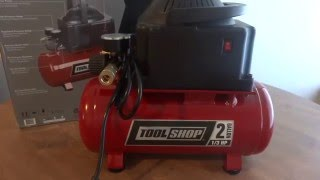 tool shop 2 gallon air compressor review
