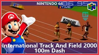 International Track And Field 2000 - 100m Dash (Nintendo 64)