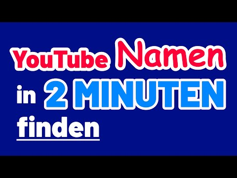 Find a good YouTube Name in 2 Minutes