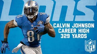Highlights from former Lions WR Calvin Johnson's career-high 329 yards vs. the Cowboys in October of 2013. Subscribe to NFL: http://j.mp/1L0bVBu Start your ...