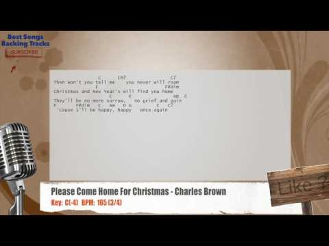 Please Come Home For Christmas - Charles Brown Vocal Backing Track with chords and lyrics