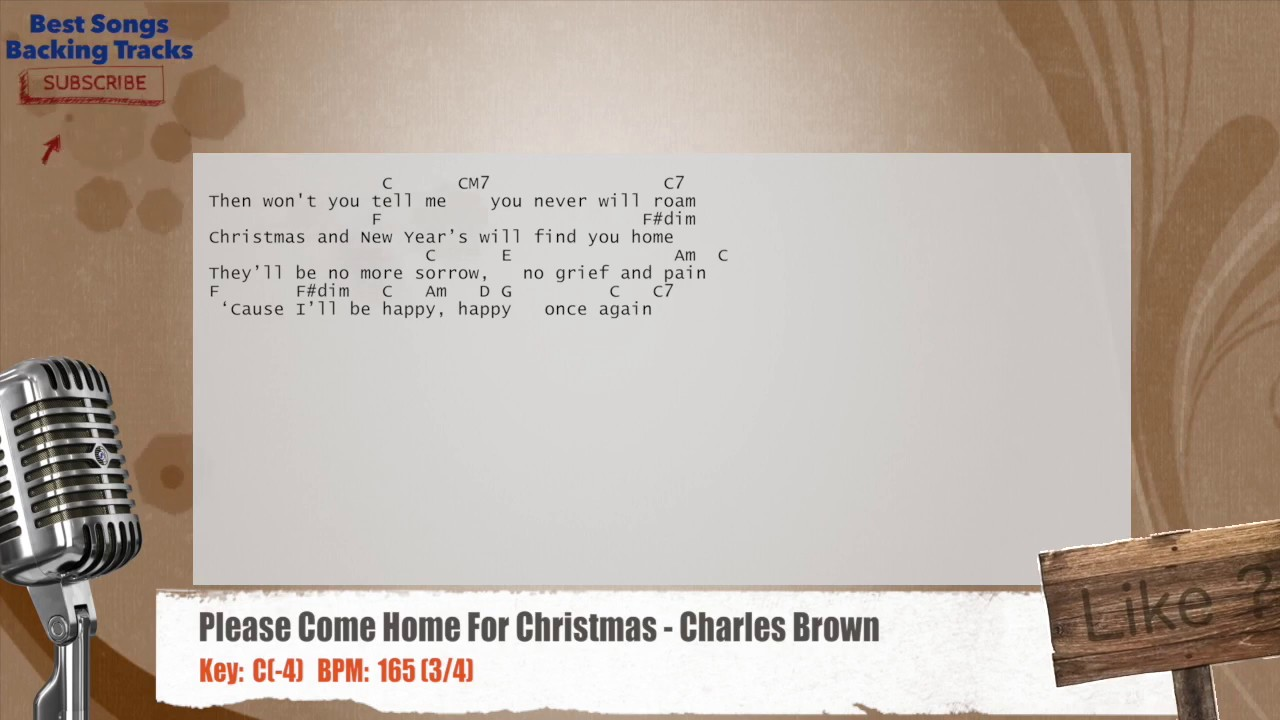Please Come Home For Christmas - Charles Brown Vocal Backing Track ...