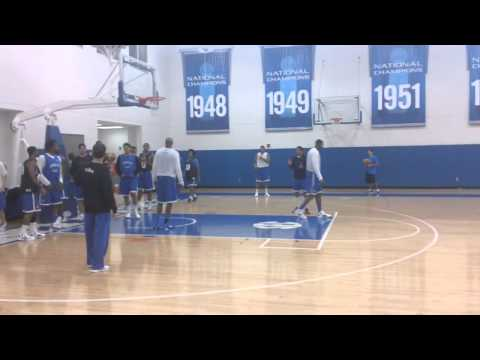 John Calipari Running Transition Drills at Dominican Republic Practice 1