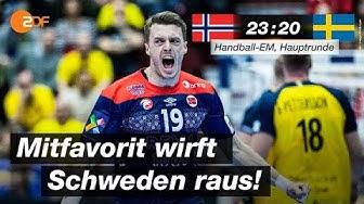 Norwegen - Schweden 23:20 - Highlights | Handball-EM 2020 - ZDF