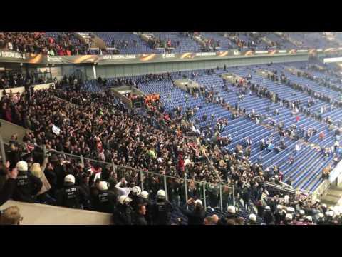 "Ajax Amsterdam Fans singing Bob Marley's ""Three Little Birds"" after game against Schalke 04"