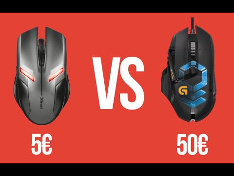 SOURIS GAMER À 5€ Vs. 50€ !